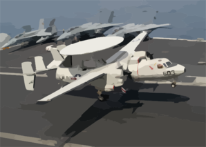 A E-2c Hawkeye Assigned To The  Bear Aces  Of Carrier Airborne Early Warning Squadron One Twenty Four (vaw-124) Lands On The Flight Deck Of Uss Theodore Roosevelt (cvn 71). Clip Art