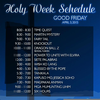 Holy Week Schedule Clipart Image