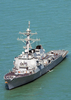 The Guided Missile Destroyer  Paul Hamilton Is Performing Combat Missions Image