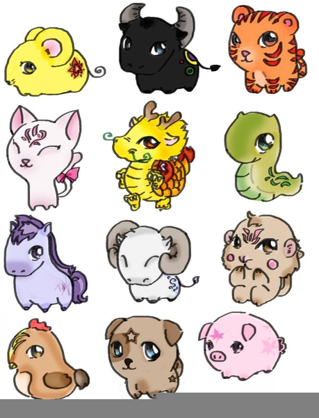 Chinese Zodiac Animals Clipart | Free Images at Clker.com ...