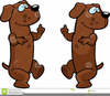 Dancing Dog Cartoon Clipart Image