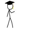 Stickfigure Gradcap Copy Image