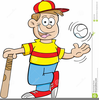 Cartoon Baseball Bat Clipart Image