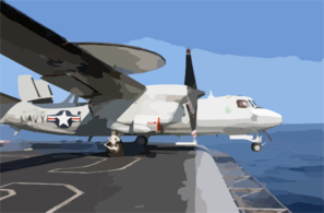 A E-2c Launches From One Of Four Steam-powered Catapults On The Ship S Flight Deck Clip Art