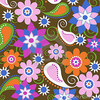 Floral Paisley Wallpaper Image