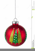 Red Bauble Clipart Image