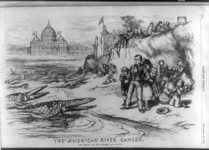 The American River Ganges. The Priests And The Children Image