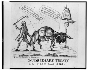 Subsidiary Treaty, Or The Lion Turned Ass  / Designed & Executed By Sinecure. Image