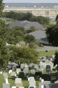 A View Of The Pentagon From Arlington National Cemetery. Clip Art