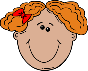 Red Haired Girl Clip Art