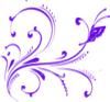 Purple Butterfly Flourish Clip Art