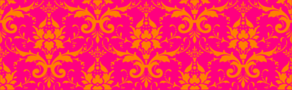 Damask Orange On Pink Clip Art