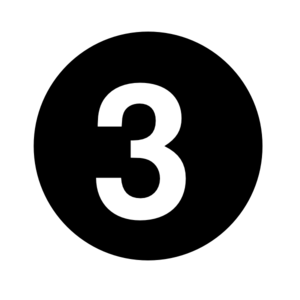 White Numeral  1  Centered Inside Black Circle Clip Art