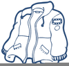 Coat Clipart Black And White Image