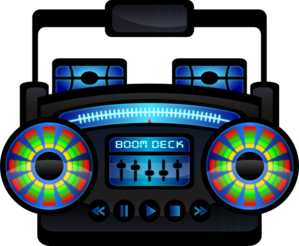 Mini Boom Box Clip Art
