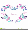 Hearts Wreath Frame Clipart Image