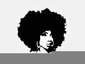 With clipart girl black afro Black girl