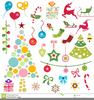 Christmas Tree With Ornaments Clipart Image