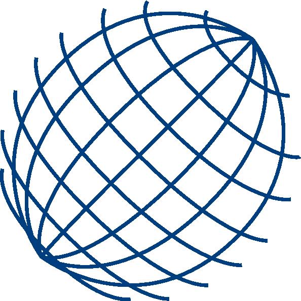 Big Blue Wire Globe Clip Art at Clker.com - vector clip art online ...