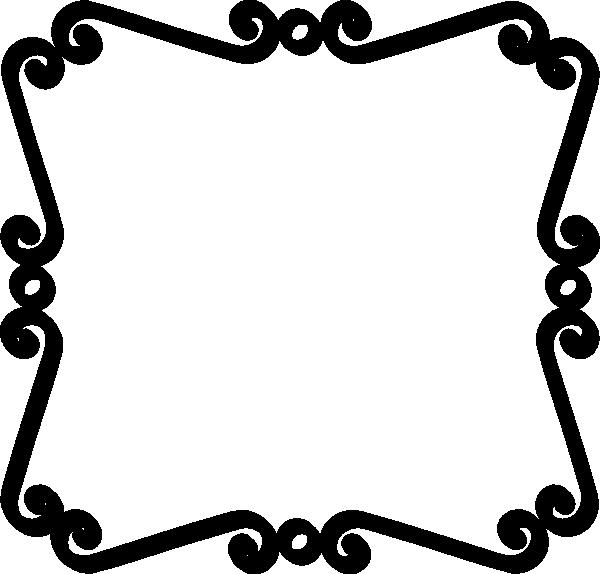Black Scroll Border Clip Art