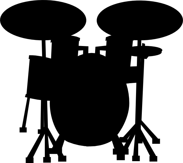 Drum Set Outline Drums clip art - vector clip