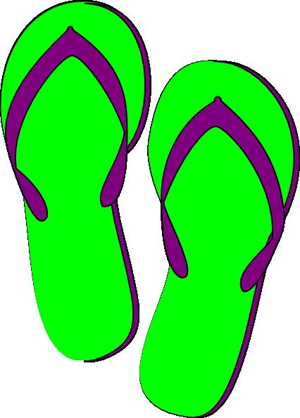 green purple flip flops clip art at clker com vector clip art rh clker com pink flip flops clipart pink flip flops clipart