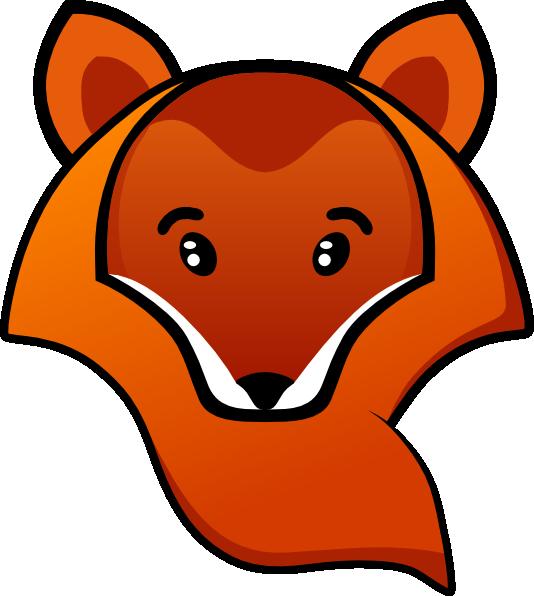 Fox Head Clip Art at Clker.com - vector clip art online, royalty free ...