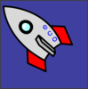 Rocket In Blue-sky Clip Art