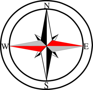 Compass Red Grey Clip Art