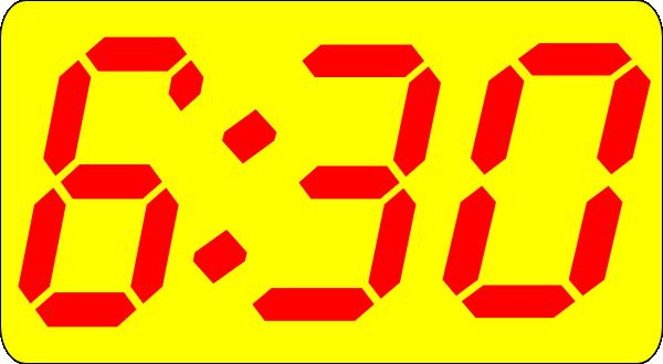 six thirty clip art at clker com vector clip art online royalty rh clker com Digital Clock Face Alarm Clock Clip Art