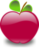 Crimson Apple Clip Art