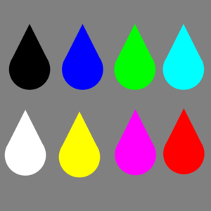 Colored Raindrops Clip Art at Clker.com - vector clip art online ...