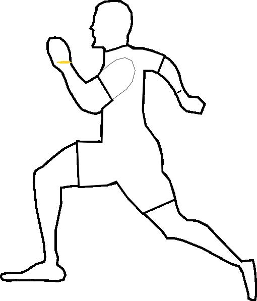 White Running Man Clip Art at Clker.com - vector clip art online ...