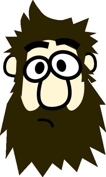 bearded man cartoon clip art at clkercom vector clip