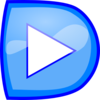 Play Button Blue Clip Art
