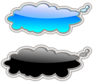 Glossy Clouds Clip Art