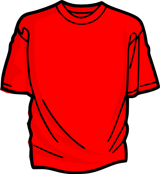 Red T-shirt Clip Art at Clker.com - vector clip art online, royalty ...