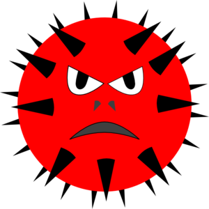 Evil Virus Clip Art at Clker.com - vector clip art online, royalty ...