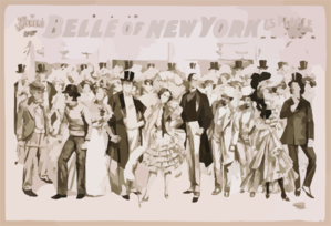 Geo. W. Lederer S Belle Of New York The Rage Of Two Continents : Book By Hugh Morton ; Music By Gustav Kerker. Clip Art
