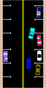Parallel Parking With Cars Clip Art