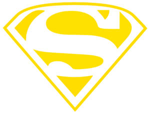 Wildcats Superman Logo(gold Only) Clip Art