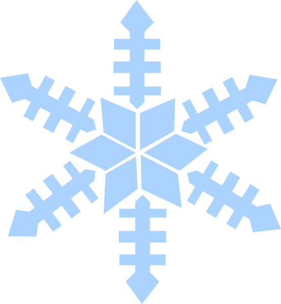 Blue Snowflake Clip Art at Clker.com - vector clip art ...