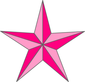 Pink Nautical Star Clip Art