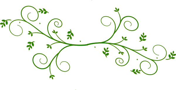 Floral design green clip art at vector clip for Green design