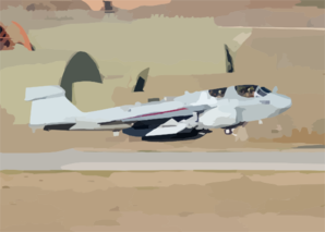 U.s. Navy Ea-6b Prowler Taking Off From Incirlik Air Base, Turkey. Clip Art