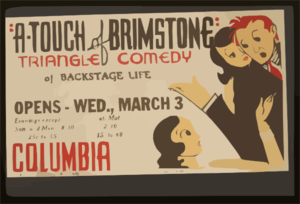 A Touch Of Brimstone  - Triangle Comedy Of Backstage Life Clip Art