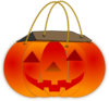 Trick Or Treat Pumpkin Bag Clip Art