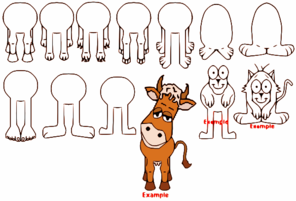 Cow Parts Clip Art