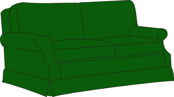 Green sofa couch clip art at vector clip art for Sofa clipart