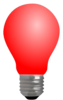 Light Bulb Full-red W/o Fillament Clip Art